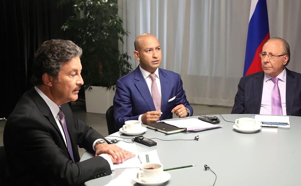 Владимир Путин даёт интервью телеканалам Al Arabiya, Sky News Arabia и RT Arabic
