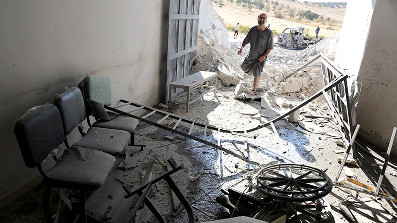 Разрушенная больница в Сирии