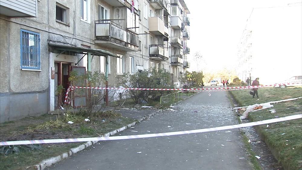 Частичное обрушение жилого дома в в поселке Новонежино, Приморский край