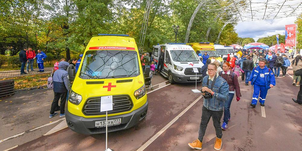 Выставка автомобилей скорой помощи
