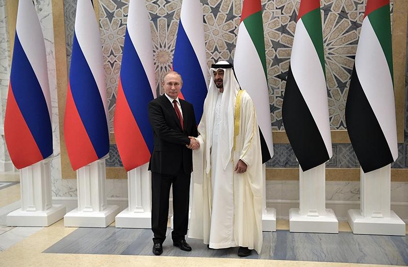 Владимир Путин и наследный принц Абу-Даби