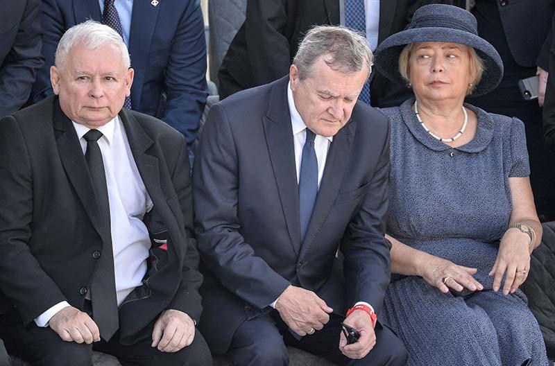 Польский политик Ярослав Качиньский (слева)