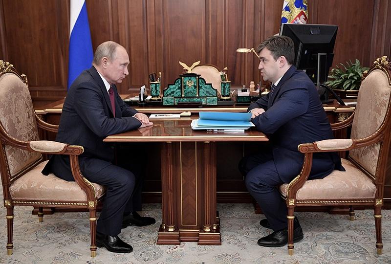 Владимир Путин и губернатор Ивановской области Станислав Воскресенский