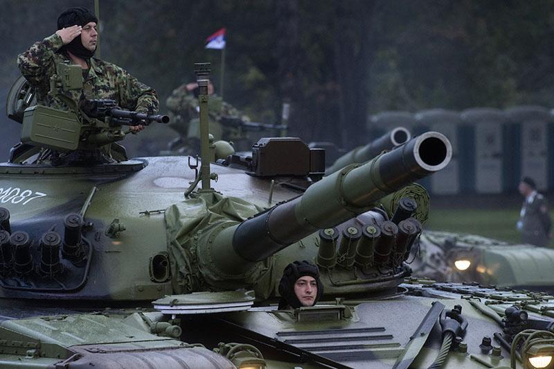 Военный парад в Сербии