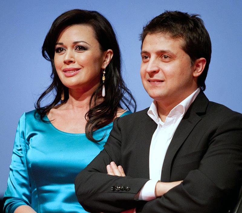 Анастасия Заворотнюк и Владимир Зеленский