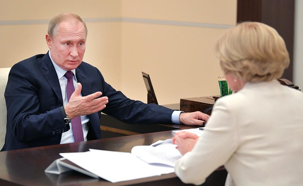 Владимир Путин и Ольга Голодец