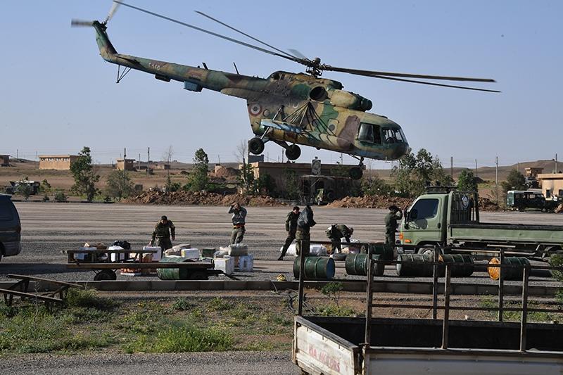 Вертолет Ми-8 ВВС Сирии