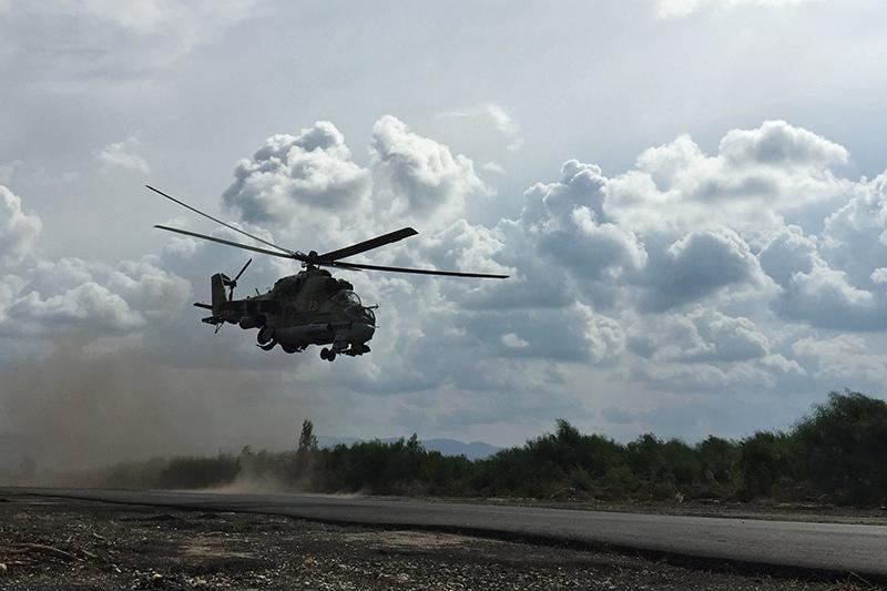 Вертолет Ми-24 ВКС России в Сирии