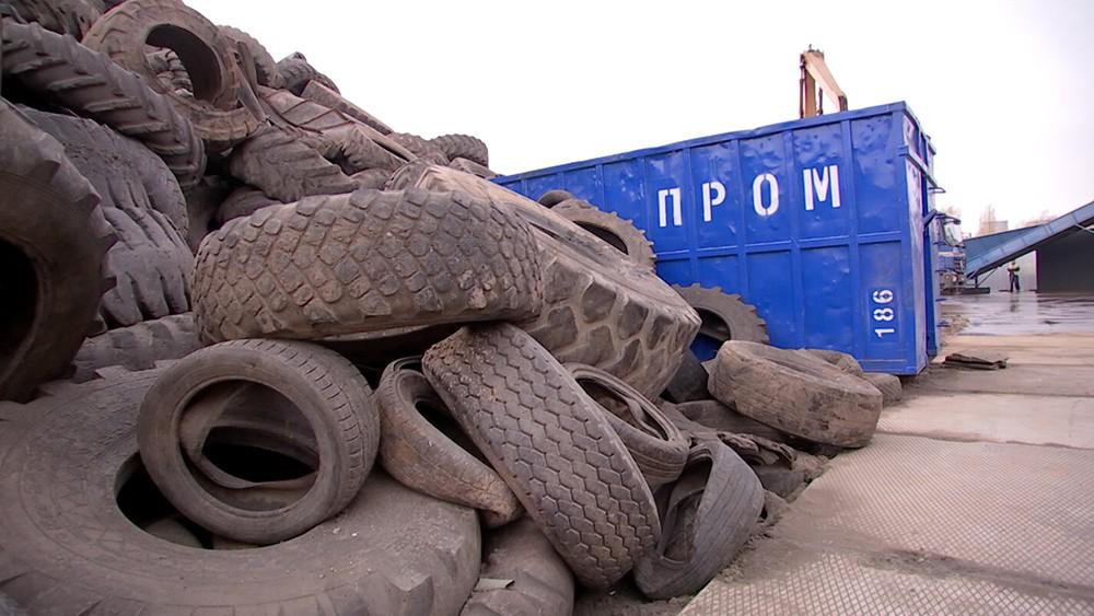 Контейнер для старых автомобильных шин