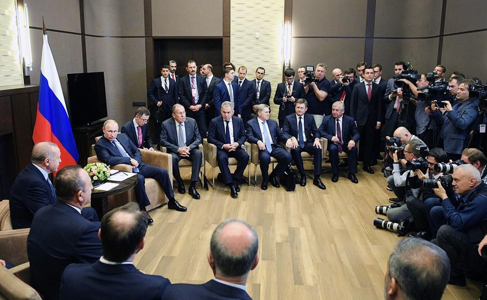 Переговоры Владимира Путина и Реджепа Тайипа Эрдогана