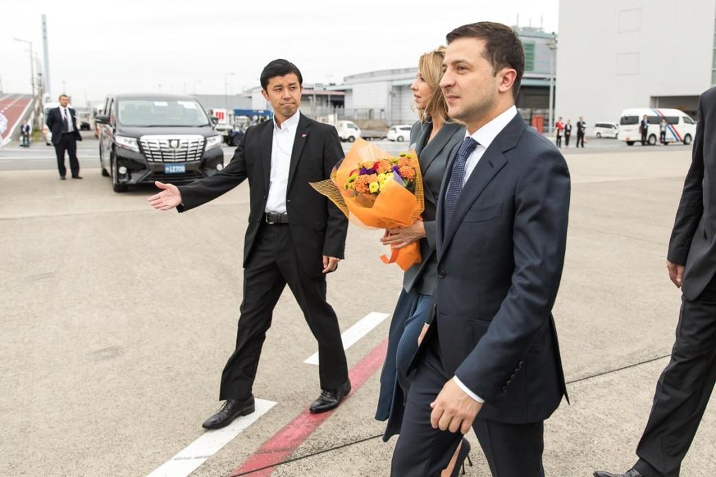 Владимир Зеленский с супругой Еленой во время визита в Японию