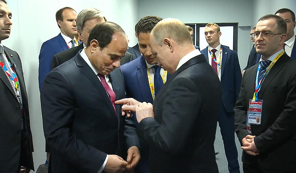 Владимир Путин и Абдель Фаттах ас-Сиси