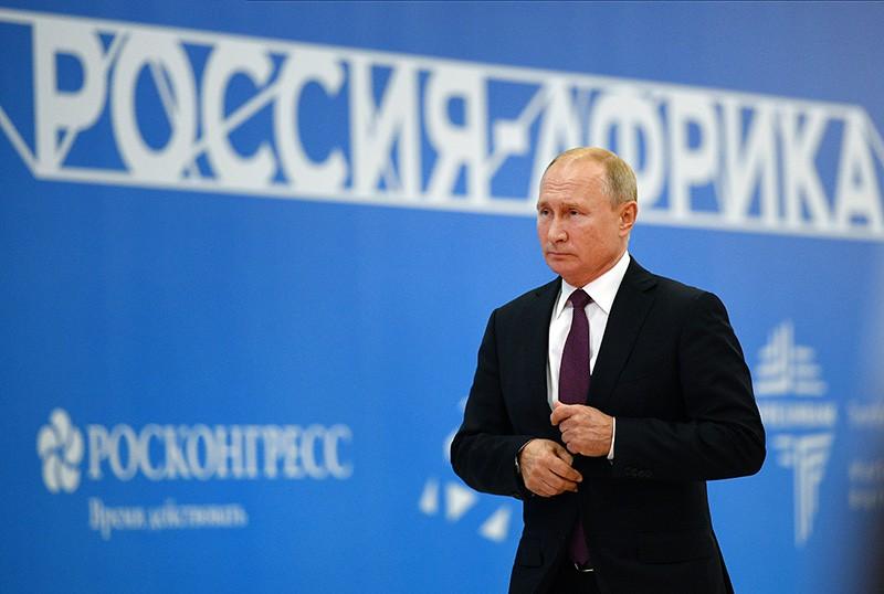 Владимир Путин на заседании экономического форума Россия – Африка