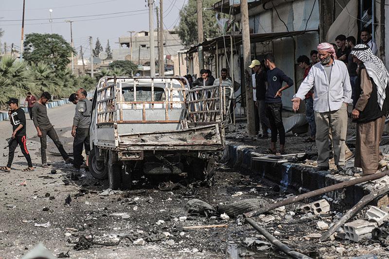 Взрыв на рынке в Сирии