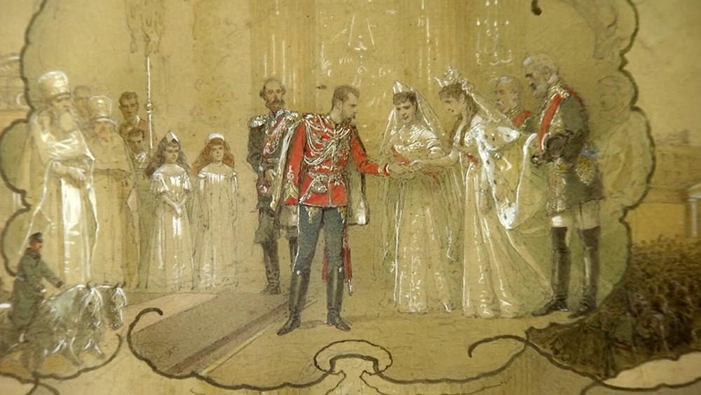 Картина венчание Николая II и Александры Фёдоровны