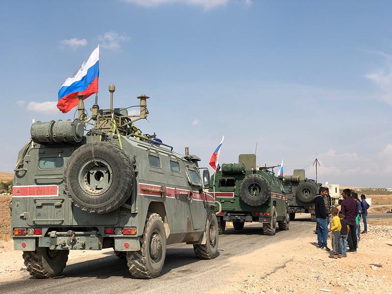Бронеавтомобили военной полиции России в Сирии