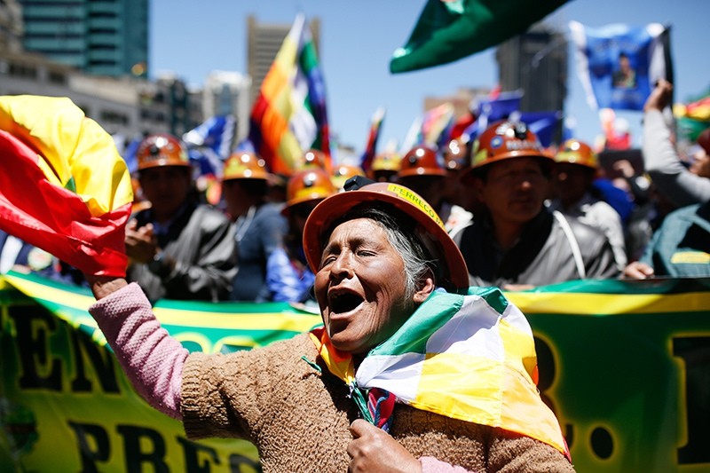 Митинг в Боливии