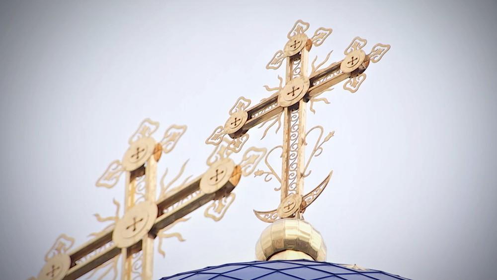 Православные кресты на куполах