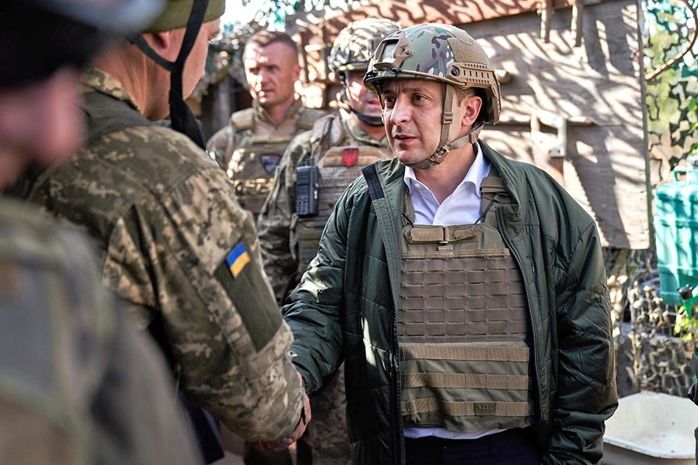 Владимир Зеленский и украинский военные