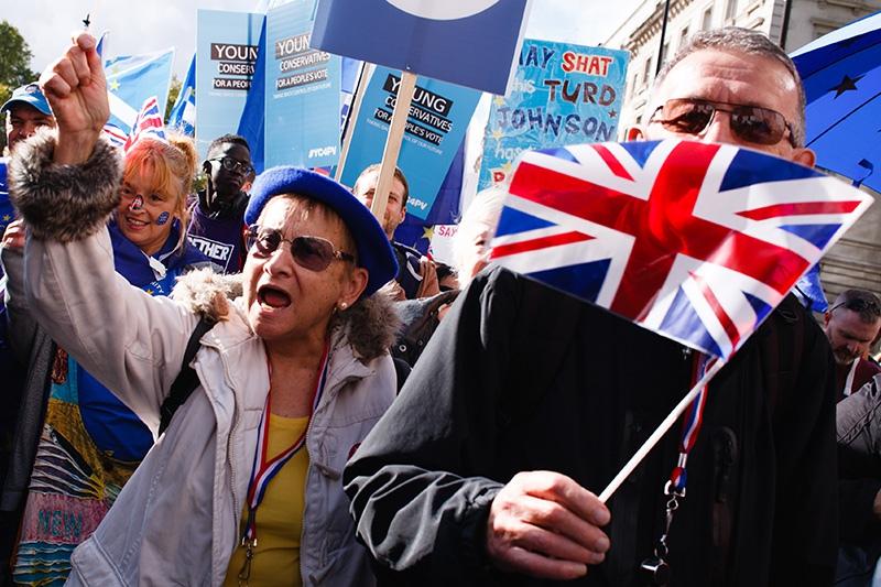 Митингующие в Лондоне