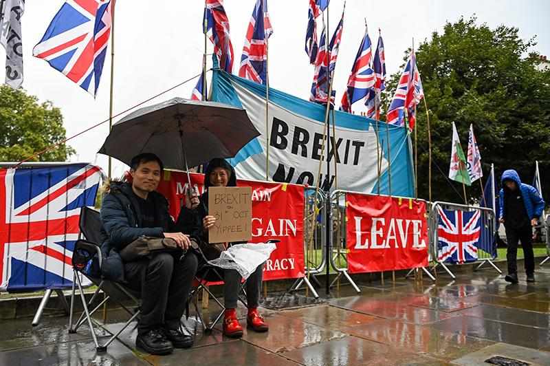 Акция сторонников Brexit в Лондоне