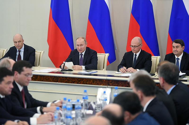 Рабочая поездка Владимира Путина в Калининградскую область