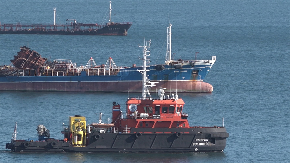 Взрыв танкера в Приморском крае