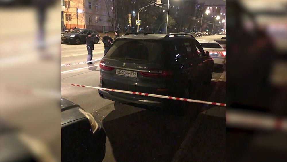 Полиция на месте стрельбы в Москве