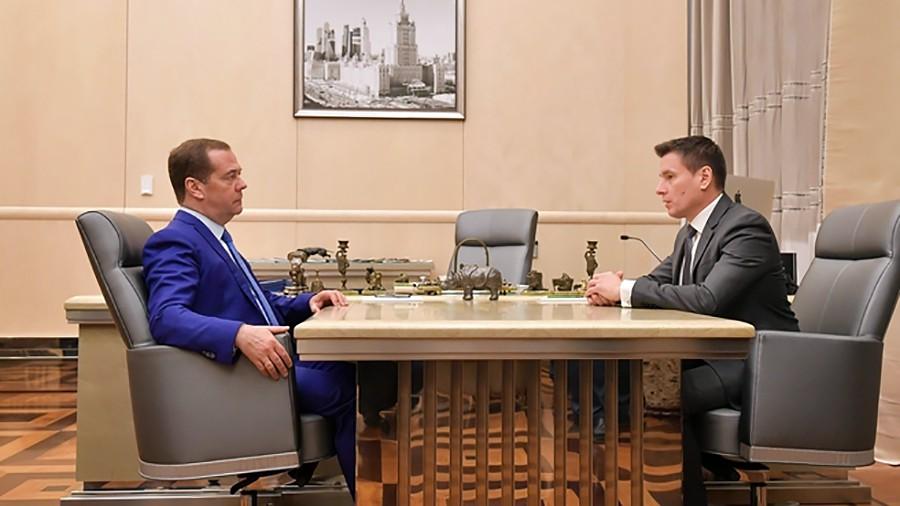 Дмитрий Медведев и Андрей Слепнёв