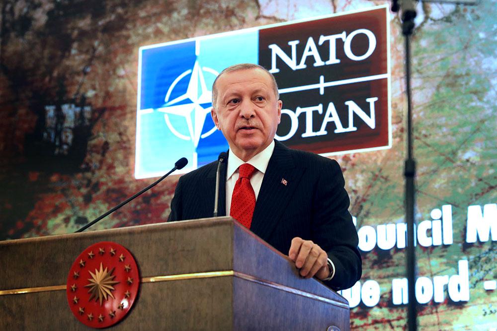 Реджеп Тайип Эрдоган на саммите НАТО