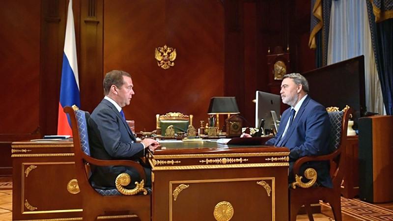 Дмитрий Медведев и Игорь Артемьев