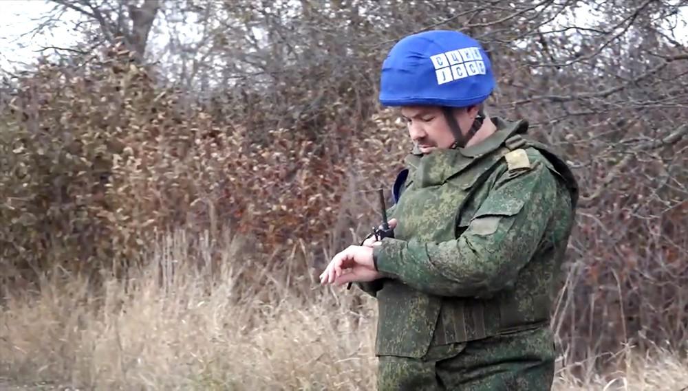 Члены центра контроля и координации прекращения огня в Донецкой области