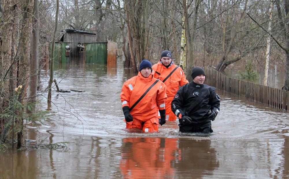 Спасатели МЧС в зоне паодка