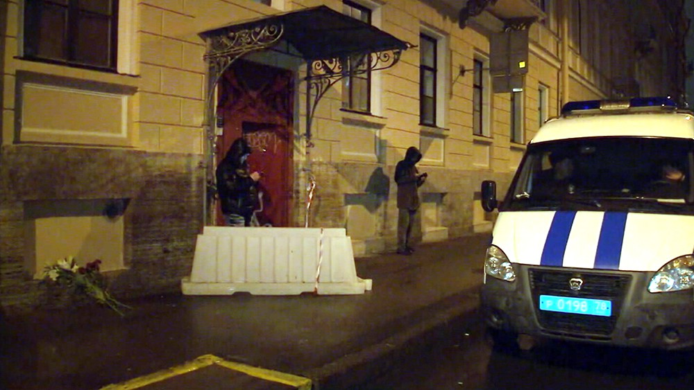Полиция Санкт-Петербурга на месте происшествия