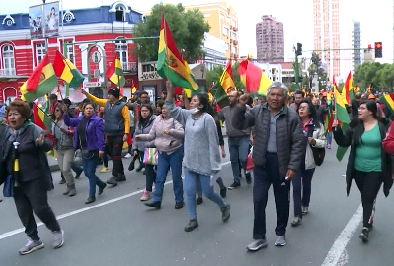 Акции протеста в Боливии
