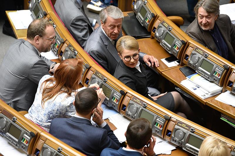 """Лидер партии """"Батькивщина"""" Юлия Тимошенко на заседании Верховной Рады Украины"""