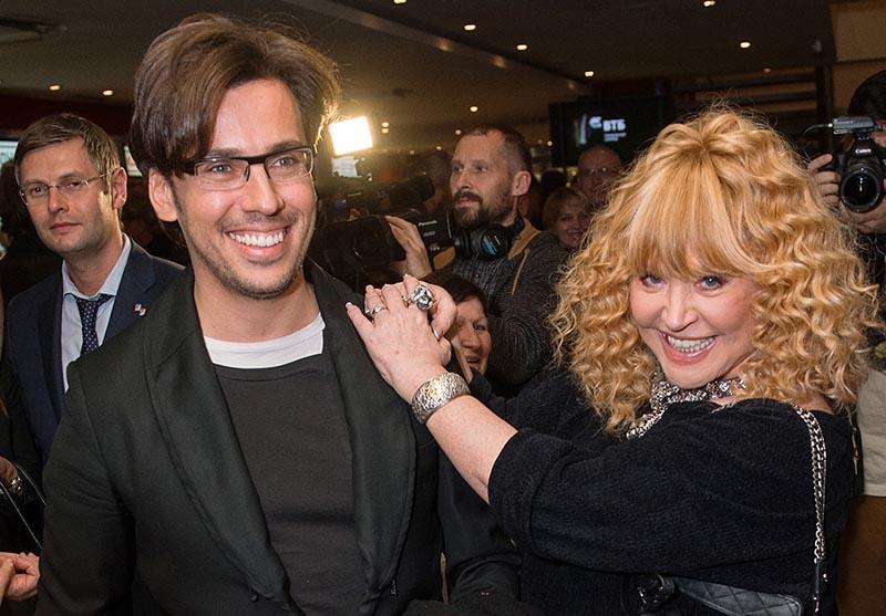 Певица Алла Пугачева с супругом телеведущим Максимом Галкиным