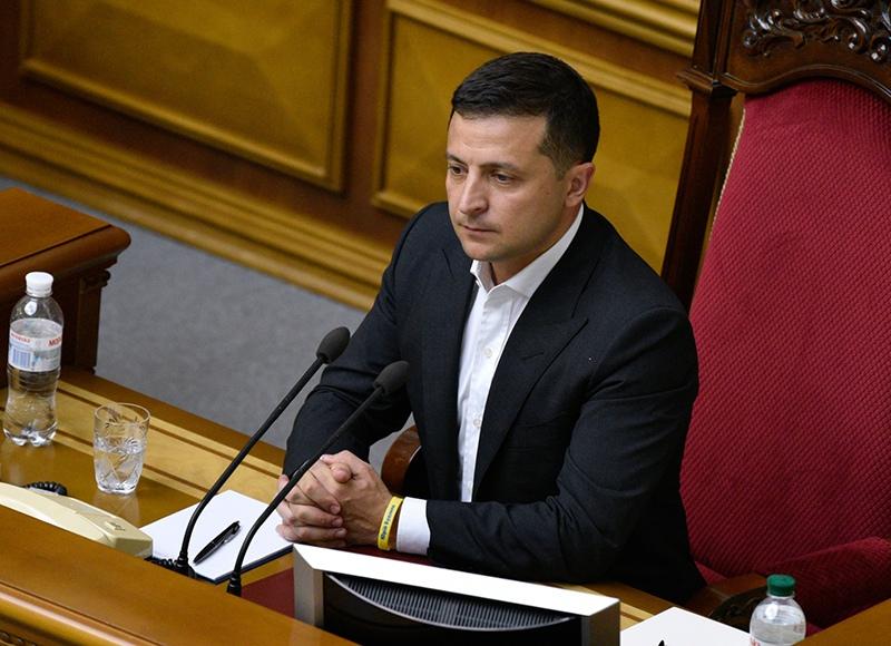 Владимир Зеленский на первом заседании девятого созыва Верховной рады