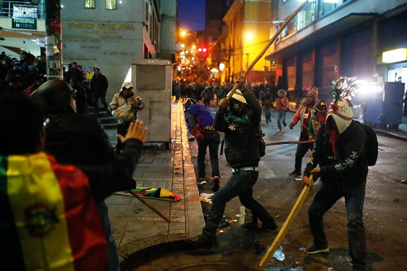 Беспорядки в Боливии