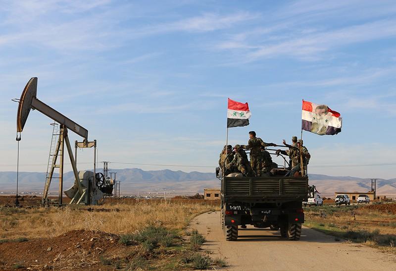 Нефтебаза в Сирии