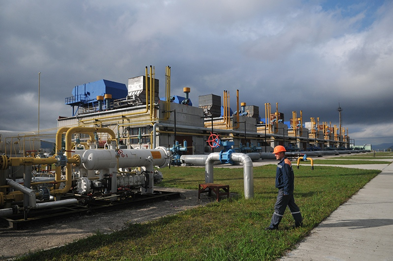 Газовая станция на Украине