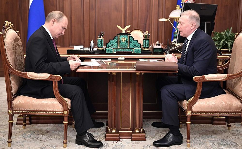 Владимир Путин и Мусой Бажаевым