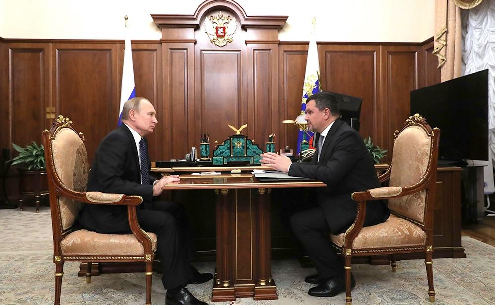Владимир Путин и Максим Акимов