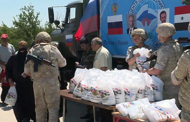 Гуманитарная помощь в Сирии