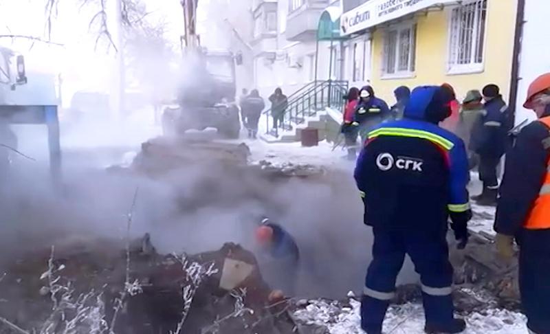 Ремонт теплотрассы в Барнауле