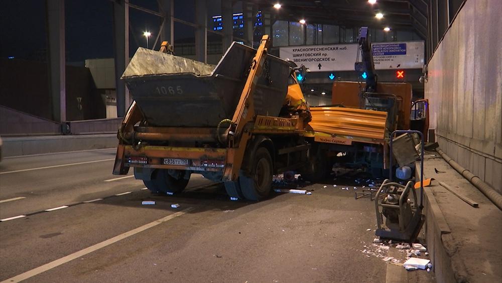 ДТП с участием грузовиков в Москве