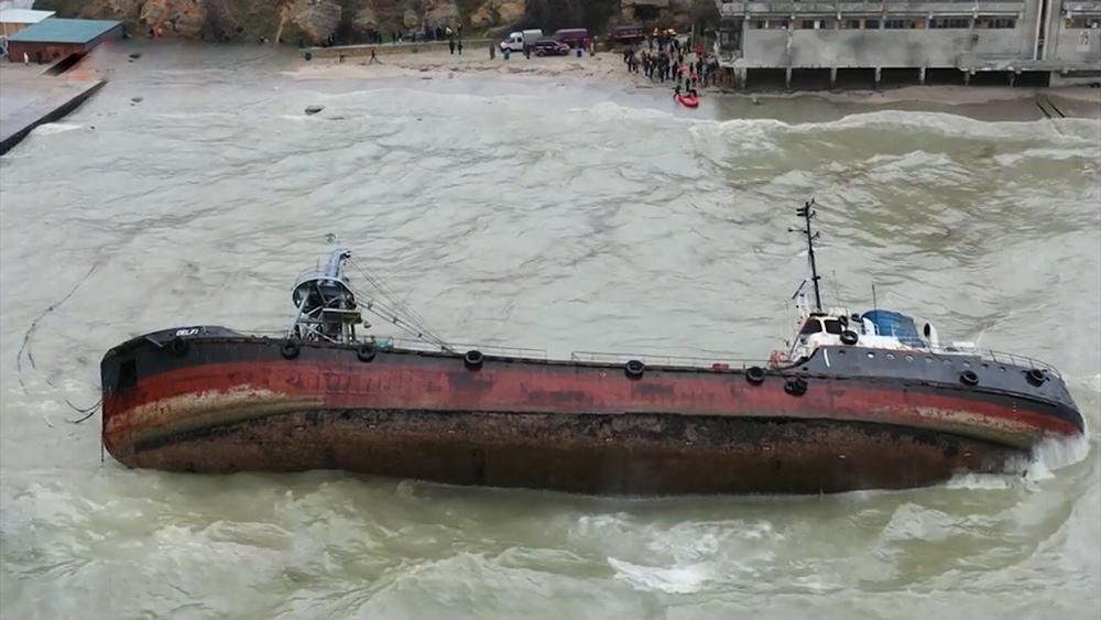 Крушение танкера под Одессой