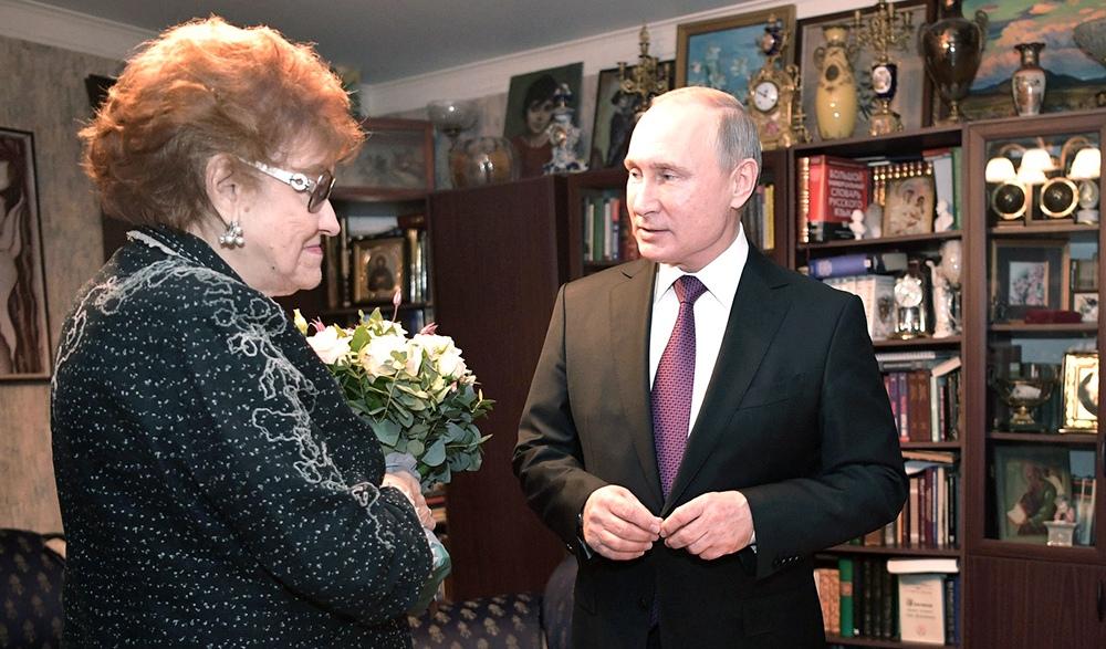 Владимир Путин и Людмила Вербицкая