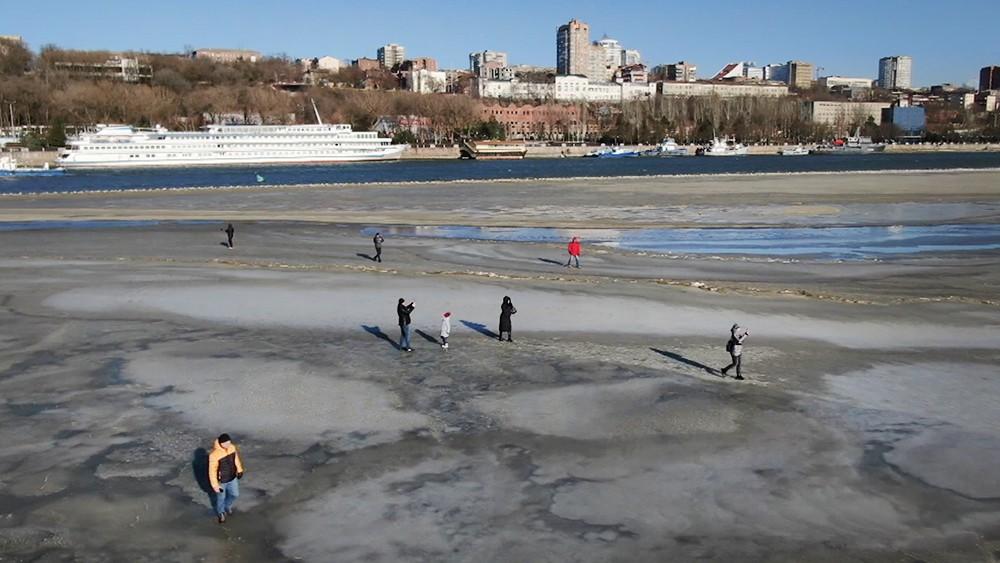 Обмеление Таганрогского залива в Азовском море