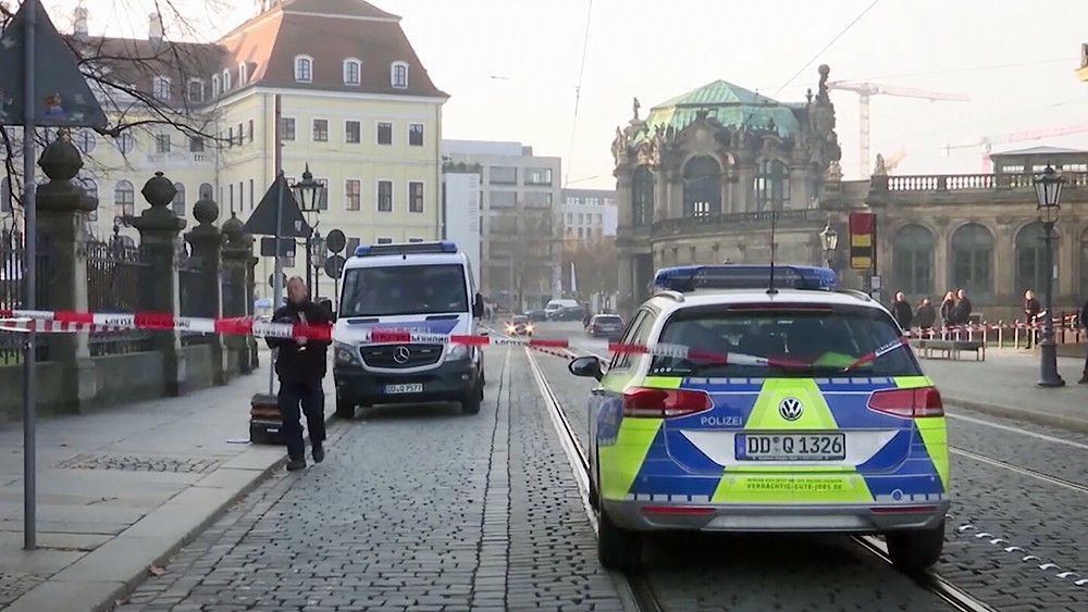 Полиция Германии на месте ограбления в Дрездене